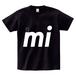 """minario / NYAN-2 """"mi"""" T-SHIRT BLACK"""