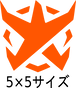 BADFALLロゴステッカー オレンジ