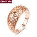 Top Quality Flower Hollowing craft Rose Plated Ring Fashion  Jewelry Full Sizes Wholesale ZYR281