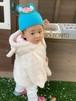 ベビー用 ニット帽&ニット靴セット ウサギ