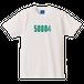 50004 Tシャツ(ホワイト×グリーン)