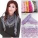 ベリーダンスヒップスカーフ女性ファッショントライアングルラップレディショールレース薄手花柄スカーフスカーフ