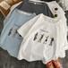 シンプルコーデ  着回し力抜群  大きいサイズ  ラウンドネック  半袖  Tシャツ・トップス