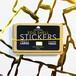 EGGSHELL STICKERS GOLD WAVY BORDER - 50pcs