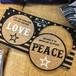 飾っても可愛い!LOVE&PEACE☆コルクコースター