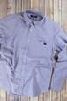 トラクター刺繍入り 長袖ボタンダウンシャツ ブルー