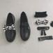付け替え自由リボンローファー リボン チェック柄 フェミニン ガーリー かわいい 靴 韓国