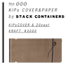 KIPs COVER&PAPER by STACK CONTAINERs [kraft]