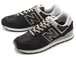 【MEN】 new balance ニューバランス ML574 EGK BLACK ブラック ランニングシューズ スニーカー Shoes