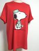 1980's SNOOPY ドクタープリントTシャツ SCREEN STARSボディ 赤 表記(XL) スヌーピー
