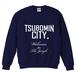 TSUBOMIN / TSUBOMIN CITY CREWNECK SWEAT NAVY