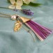 絹組紐タッセルペンダントネックレス◍ta ba ne(purple)