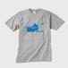 メンズTシャツ パドリングシルエット(Leo R. Yamada)・ブルー グレー