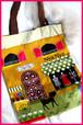 シャンゼリゼ*布製トートバッグ イエロー、ピンク2色
