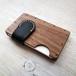 a card case ウォールナット 無垢材と本革の名刺入れ   木で作ったナチュラルでおしゃれな名刺入れ tackle wood design