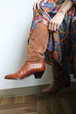 80's brown western boots