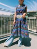 Vintage native print sleeveless cotton dress ( ヴィンテージ  ネイティブ柄 ノースリーブ コットン ワンピース )
