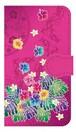 【鏡付き Sサイズ】Tropical Pink トロピカル・ピンク 手帳型スマホケース