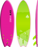 Storm Blade 5ft6 Swallow Tail Surfboard / Pink