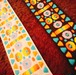 手作り応援 50cm販売 ボタニカル柄レインボー リボンテープ ジャガード織り ネイティブ柄