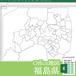 福島県のOffice地図【自動色塗り機能付き】