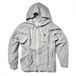 ZIP UP PARKA / RED FIN / HEATHER GRAY