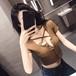 【トップス】Uネック半袖無地シングルブレストTシャツ21673373