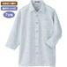 (お取り寄せ)麻混スナップ釦7分袖ニットシャツ