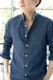 CARLO ハイバンドカラーシャツ (#7826)