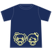 ふじこまチューン ロゴ Tシャツ(ネイビー)