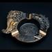 昭和レトロ 日光お土産 銅仕上げ 灰皿(476)