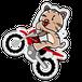 <アクリルキーホルダーM>バイクみーちゃん