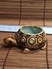 ☆ 子ガメ水草鉢 2 (茶・穴あり)