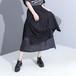 ティアードスカート アシンメトリー 韓国ファッション レディース スカート 無地 ロング Aライン ハイウエスト ウエストゴム 大人カジュアル 大人可愛い ガーリー 620286856090