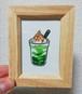 ずが☆こうさく『ミニ絵画「抹茶フラペチーノ」』