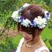 パンジーとガーベラの花冠