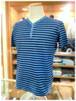 【LIBERO DIAMBRA】- Italy -          リベロディアンブラ   クルーネック半袖Tシャツ    ウォッシュ加工×ボーダー