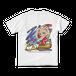 <白Tシャツ 背面>サンタみーちゃん