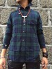 FLASHBACK Western Dress length Check-shirts Tartan