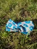 クロスターバン~グレー+ブルー花柄