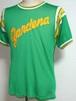 1950's MASON レタードメッシュアスレチックTシャツ 緑 表記(38-40)