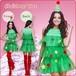 予約 コスプレ服 サンタクロース クリスマスパーティー Xmaクリスマスツリー ツリーワンピース グリーン 緑 レディースワンピース コスプレ衣装 コスチューム ハロウィン 秋 冬 レディース 女性用 かわいい サンタコスチューム クリスマス衣装 ch1028