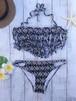Fringe bandeau bikini~総柄~