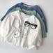 今季大流行  カジュアル  手書き風  シンプルコーデ  ラウンドネック  半袖  Tシャツ・トップス