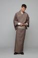 きもの / 十日町紬 / 縞格子 / Brown(With tailoring)