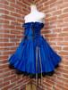 フリルコルセットスカート薔薇リボンコサージュ付き 青