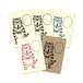 【 ポストカード5枚組 】ネコおっさん タピオカ