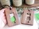 木製パスケース【猫のシルエット】ウォールナット