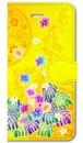 【iPhone5/5s/SE】 Passion Yellow Paradise パッション・イエロー・パラダイス 手帳型スマホケース