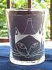 猫グラスシリーズ「フージーと猫 / Fuji and Cat」猫さんの頭から富士山が生えた!(ご希望のお名前を入れることもできます)